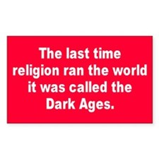 DARK AGES Rectangle Decal
