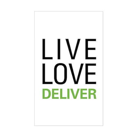 Live Love Deliver Sticker (Rectangle)