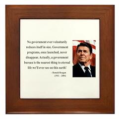 Ronald Reagan 6 Framed Tile