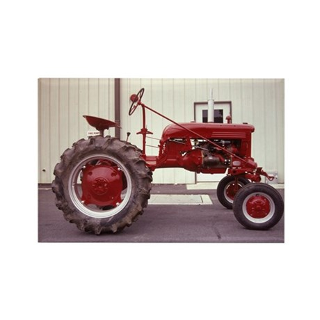 Ole Red Tractor Rectangle Magnet (10 pack)