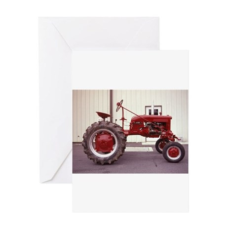 Ole Red Tractor Greeting Card