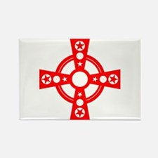 Cross and Stars Rectangle Magnet
