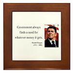 Ronald Reagan 7 Framed Tile