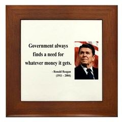 Ronald Reagan 7 Framed Tile