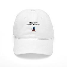 Funny I love snow Baseball Cap