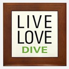 Live Love Dive Framed Tile