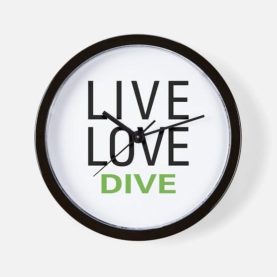 Live Love Dive Wall Clock