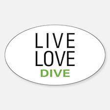 Live Love Dive Sticker (Oval)