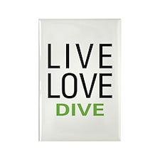 Live Love Dive Rectangle Magnet (10 pack)