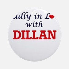 Madly in love with Dillan Round Ornament