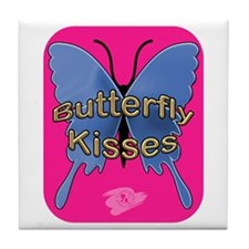 Butterfly Kisses Tile Coaster