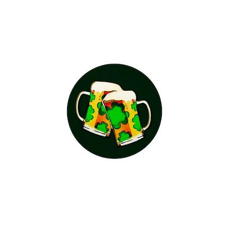 Shamrock Beer Mugs Mini Button (100 pack)