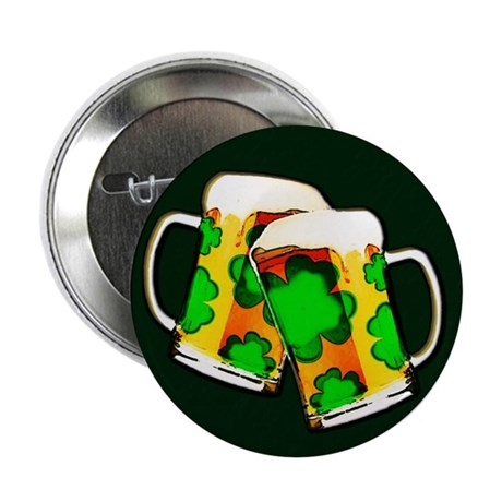 "Shamrock Beer Mugs 2.25"" Button"