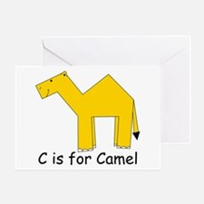 C is for Camel Greeting Card