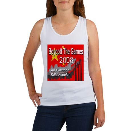 Boycott The Games 2008 Women's Tank Top