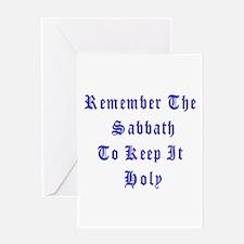 Remember the Sabbath Greeting Card
