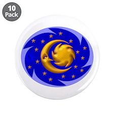 "Sun, Moon & Stars 3.5"" Button (10 pack)"