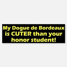 Cuter Dogue de Bordeaux Bumper Bumper Bumper Sticker