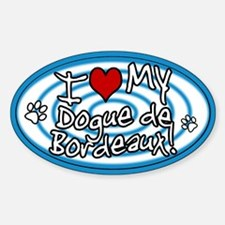 Hypno I Love My Dogue de Bordeaux Sticker Blue