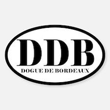 DDB Abbreviation Dog de Bordeaux Decal