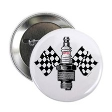 "SPARK PLUG and FLAGS 2.25"" Button (10 pack)"