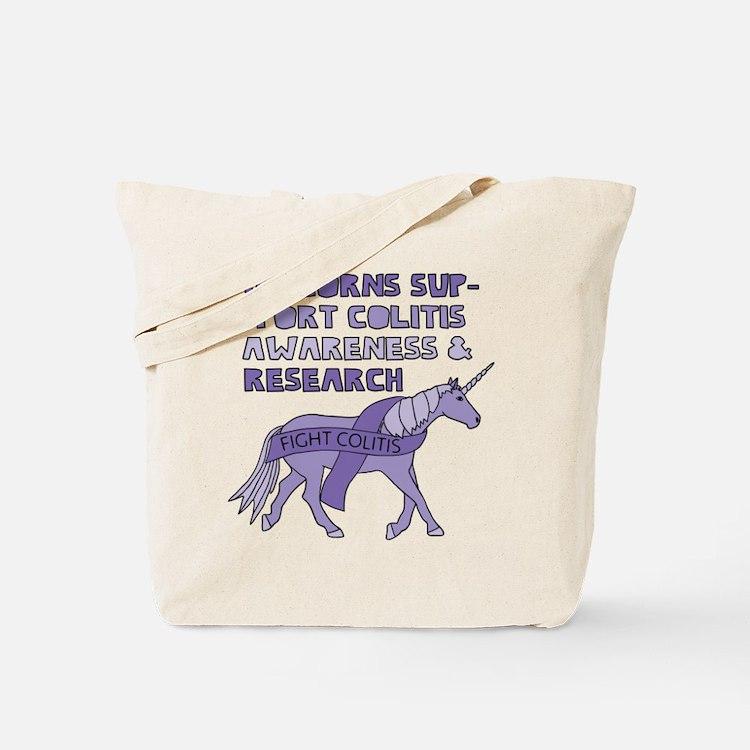Unicorns Support Colitis Awareness Tote Bag