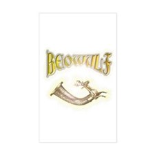 Beowulf gifts and t-shirts Rectangle Decal