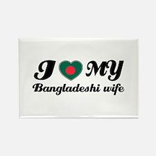 I love my Bangladeshi wife Rectangle Magnet