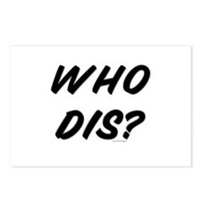 Who Dis? Postcards (Package of 8)