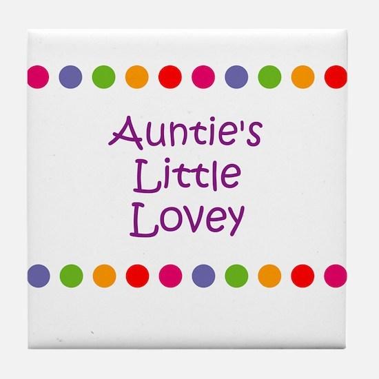 Auntie's Little Lovey Tile Coaster