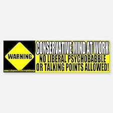 No Liberal Psychobabble Bumper Bumper Bumper Sticker