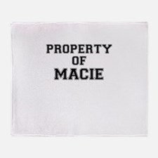Property of MACIE Throw Blanket