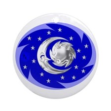Sun, Moon & Stars Ornament (Round)