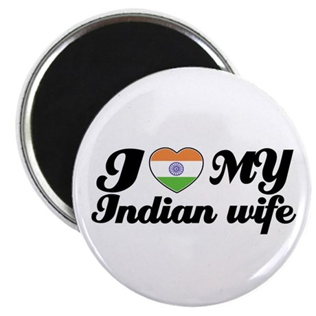 """I love my Indian wife 2.25"""" Magnet (100 pack)"""
