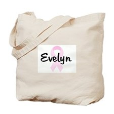 Evelyn  pink ribbon Tote Bag