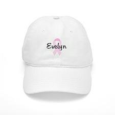 Evelyn pink ribbon Baseball Cap