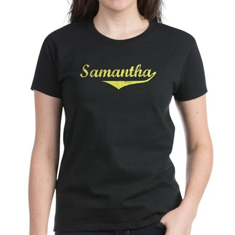 Samantha Vintage (Gold) Women's Dark T-Shirt