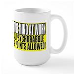 No Liberal Psychobabble Large Mug