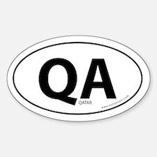 Qatar country bumper sticker -White (Oval)