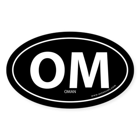 Oman country bumper sticker -Black (Oval)