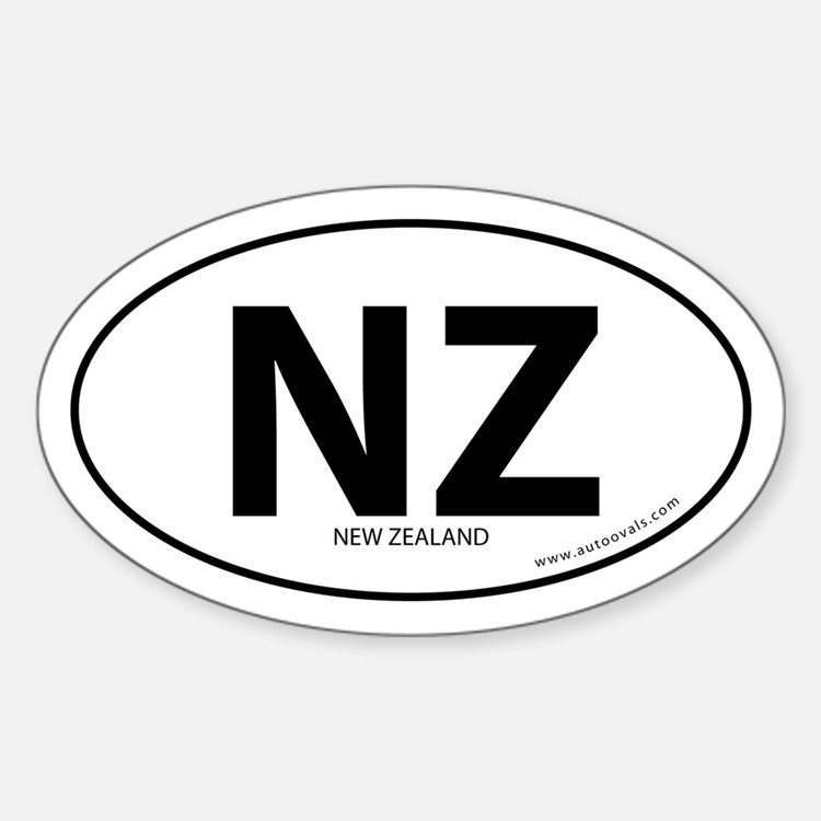 New Zealand country bumper sticker -White (Oval)