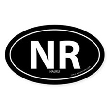 Nauru country bumper sticker -Black (Oval)