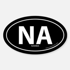 Namibia country bumper sticker -Black (Oval)