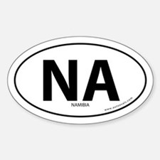Namibia country bumper sticker -White (Oval)