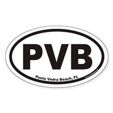 Ponte Vedra Beach PVB Euro Oval Decal