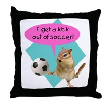 Soccer Kick Throw Pillow