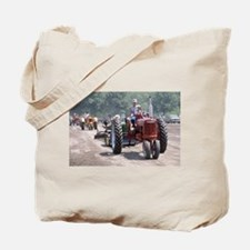 Tractor on Dirty Road Tote Bag