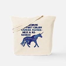 Unicorns Support Colon Cancer Awareness Tote Bag