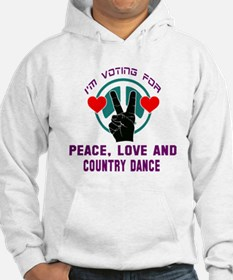 I'm voting for peace, love and C Hoodie
