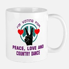 I'm voting for peace, love and Contra d Small Mugs